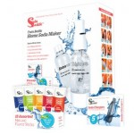 SodaSparkle Compact and Safe DIY Carbonated Soft Drink Maker Deluxe Starter Kit with 2 Bottles