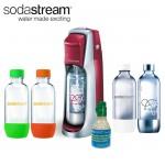SodaStream Fountain Jet Soda Maker Red 4 Bottles Mini CO2